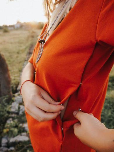 breastfeeding t-shirt Basic Orange